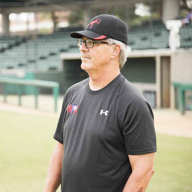 Tom House on baseball Field