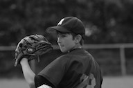 Youth player pitching