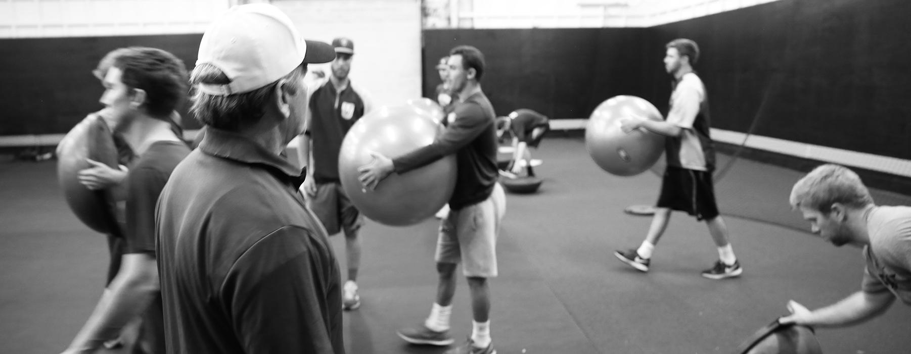 Randy Wishmyer coaching athletes at NPA West